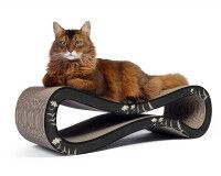 Preview: cardboard cat scratcher Cat Racer in black-anthracite-silver