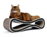 Preview: design cardboard cat scratcher Cat Racer - color: 000g - black and white