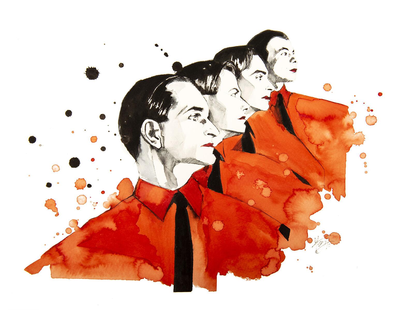 Le Ver Kraftwerk Pop Art Design Kratzbaum
