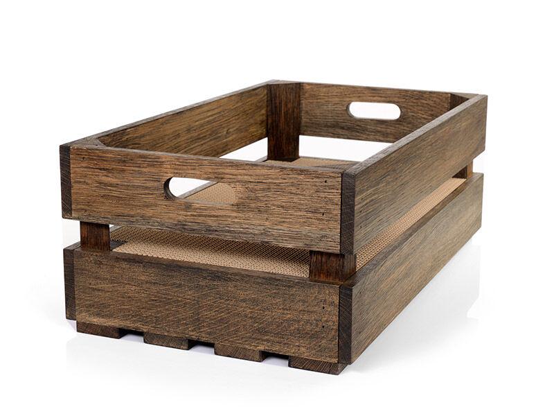 Katzenstiege L Eiche-Basalt Kratzbox