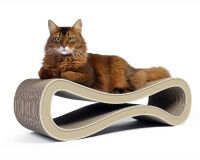 Preview: cardboard cat scratcher Cat Racer - color: 005f light beige