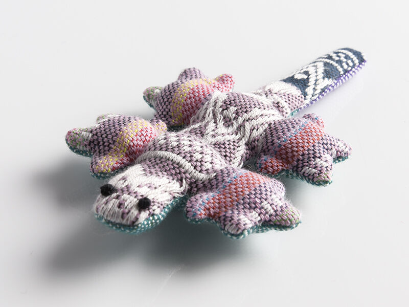 Gecko en coton jouet pour chat
