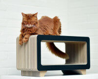 Preview: La Tele - design cardboard cat scratching post for cats