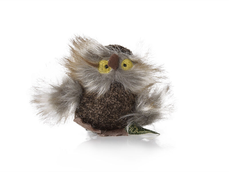 Fluffy Owl cat toy