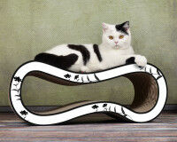 Preview: Cat scratcher Singha Medium - black and white 000c - Handmade in Germany
