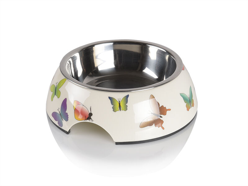 melamine feeding bowl butterfly