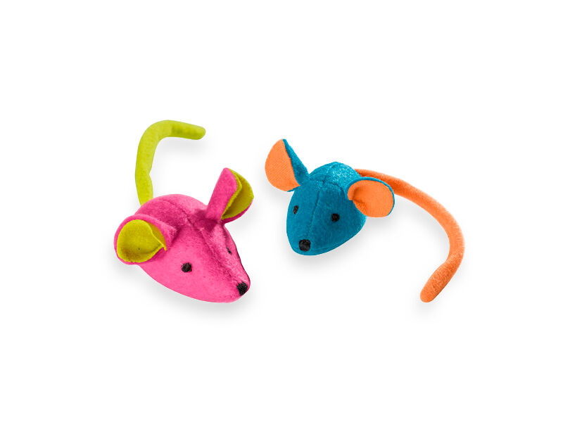 Colored mice cat toys
