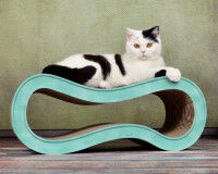 Preview: Cat scratching post de luxe Singha M turquoise