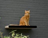 Griffoir mural |perchoir long pour chats KIM TANA L 75 en noir