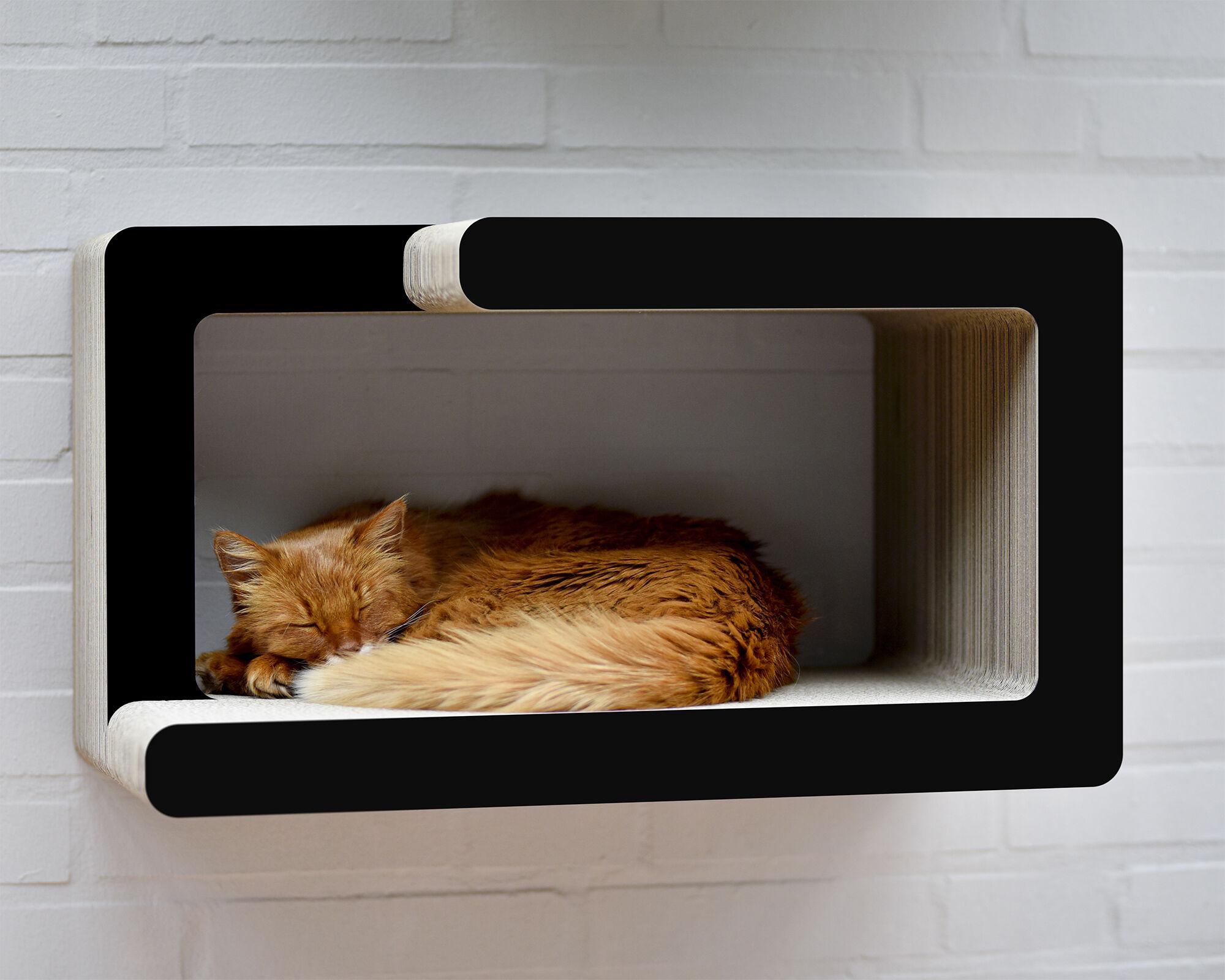 KIO HIDARI Katzen-Wandliege schwarz