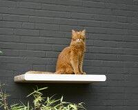 Katzen-Wandkratzmöbel aus Wellpappe KIM TANA L 75 in weiß
