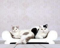 White cat sofa Vertige - 000 - ecofriendly cardboard cat scratcher Made in Germany