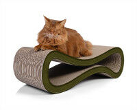Preview: cardboard cat tree Cat Racer in oliv-green 006