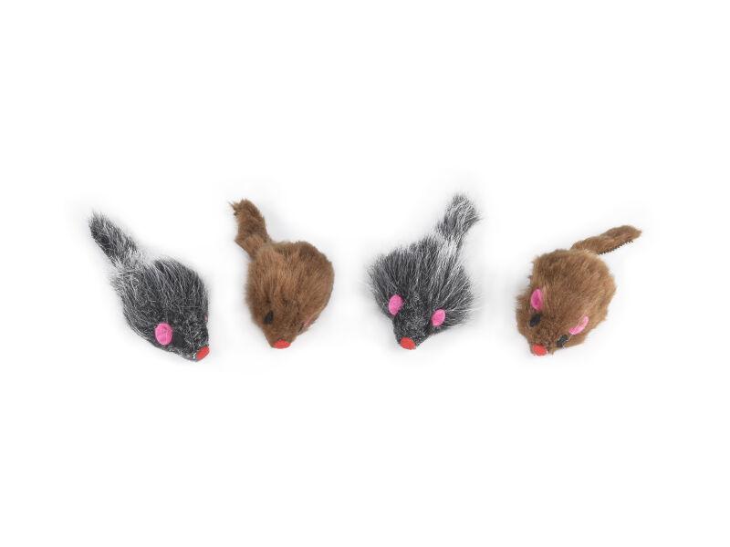 Mice in plush - Set of 4